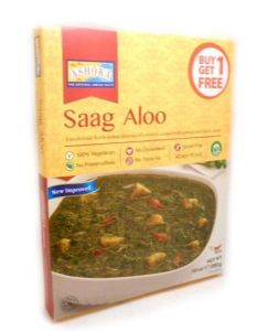 Ashoka Saag Aloo (Spinach & Potato) | Buy Online at the Asian Cookshop